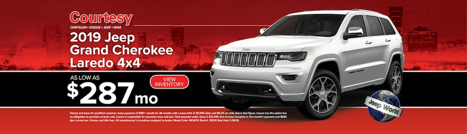 February Grand Cherokee Lease Special