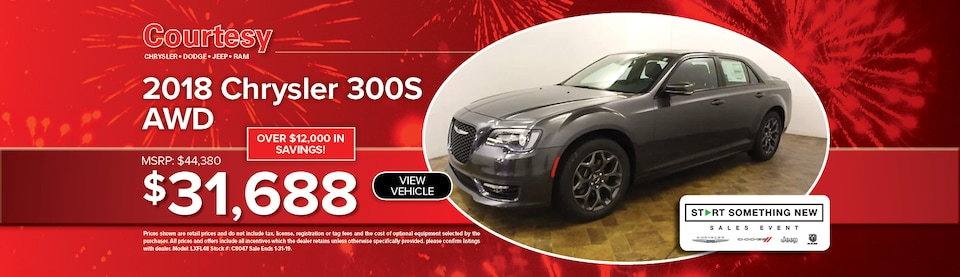 January 300S AWD Special