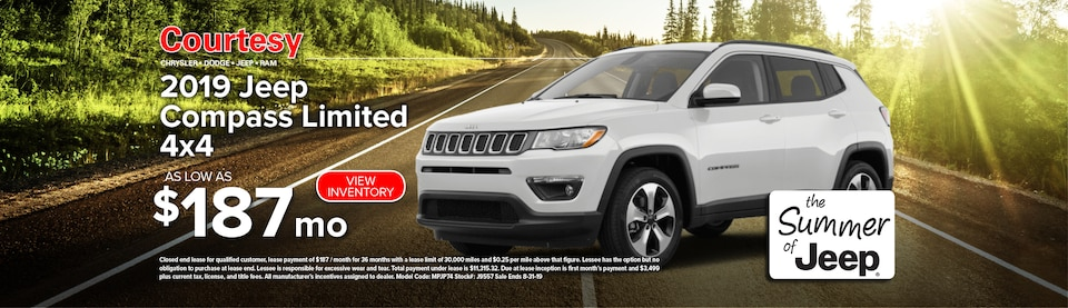 August Jeep Compass Lease Special