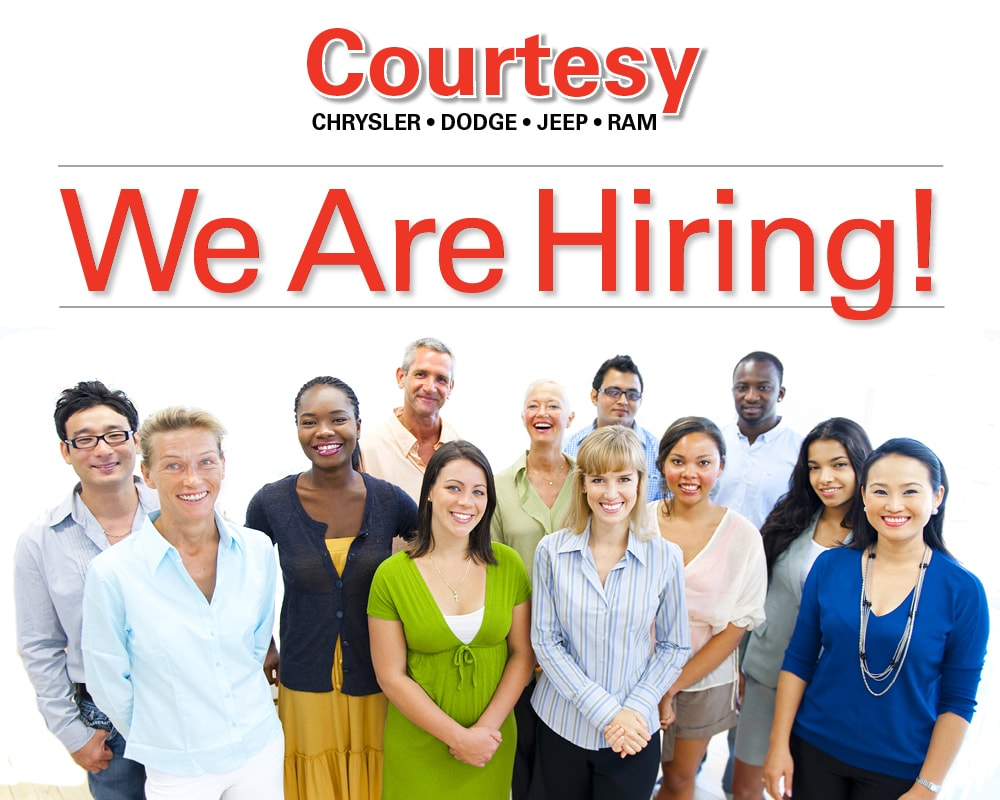 Courtesy CDJR In Grand Rapids, MI is Hiring!