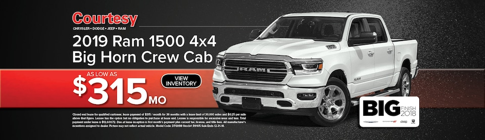 Ram 1500 Bighorn Lease Special