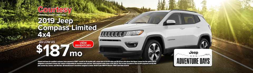 September Jeep Compass Lease Special