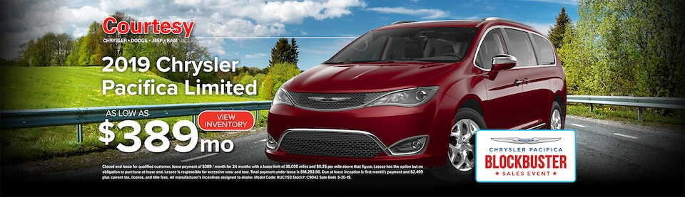 May Chrysler Pacifica Lease Special