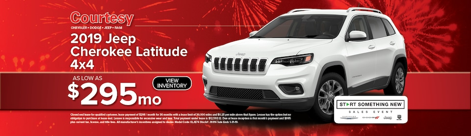January Cherokee Lease Special