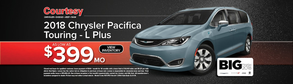 Chrysler Pacifica Lease Special