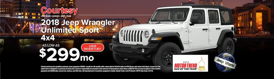 March Wrangler Lease Special