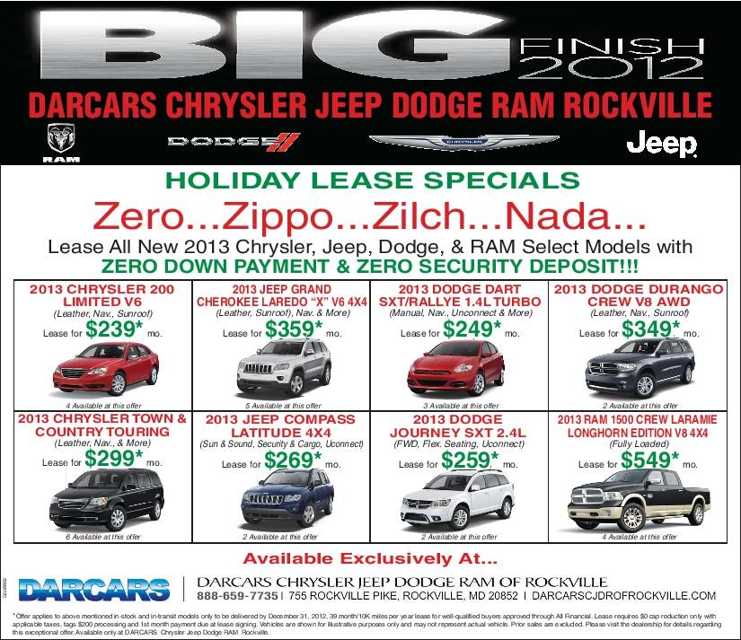 Amazing Holiday Lease Deals