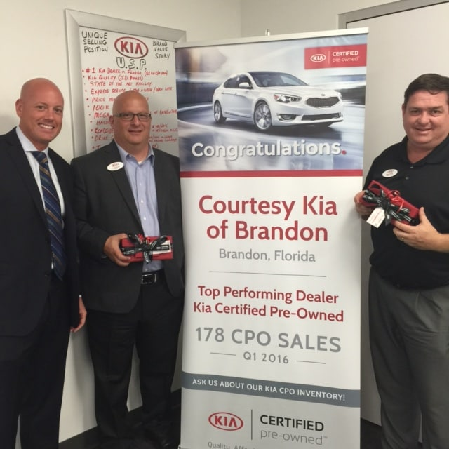 Courtesy Kia Certifed Pre-Owned Award