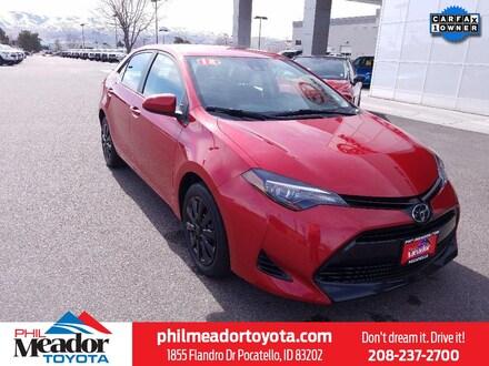 Featured used 2018 Toyota Corolla LE Car 2T1BURHE0JC068288 for sale in Pocatello, ID