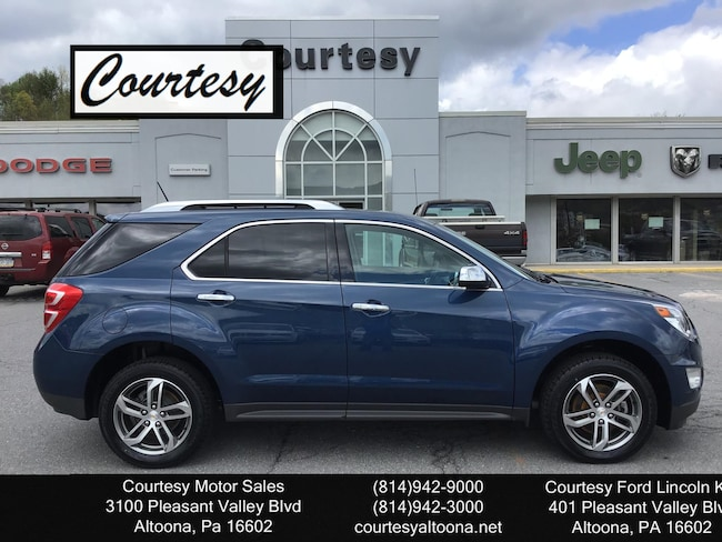 Used 2017 Chevrolet Equinox Premier SUV For Sale Altoona, PA