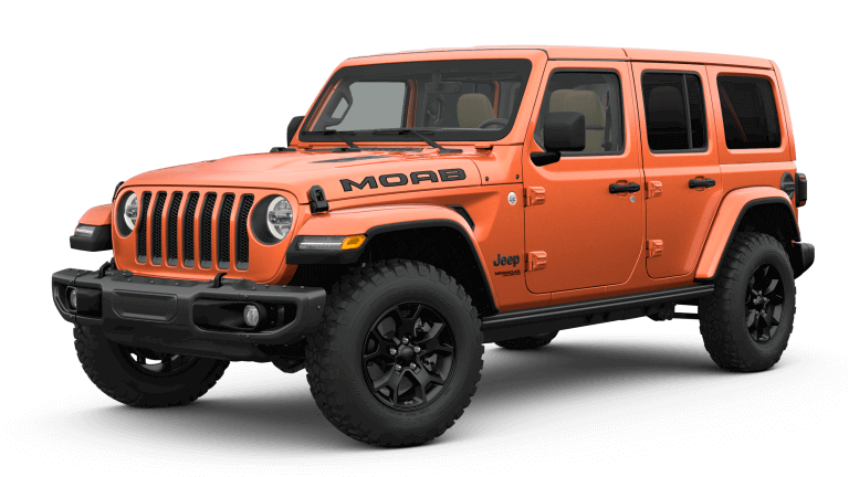 2019 Jeep Wrangler MOAB - orange