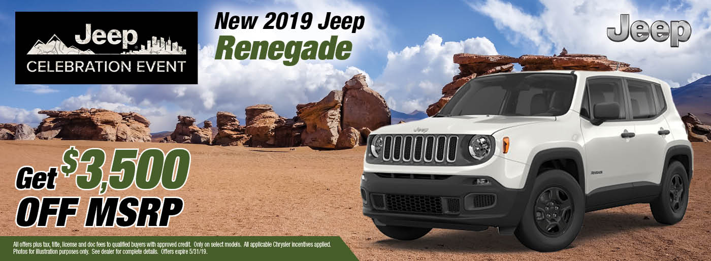 May 2019 Jeep Renegade