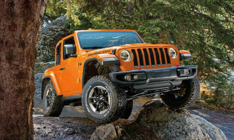 2019 Jeep Wrangler Rubicon driving Off-Road