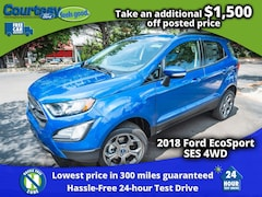 2018 Ford EcoSport SES Crossover for sale in Okemos