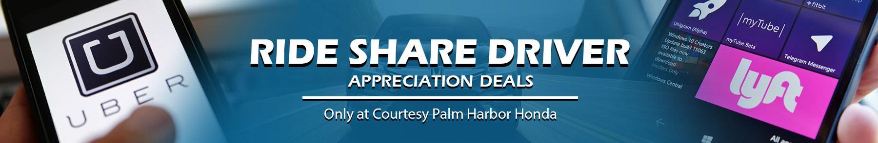 Honda Ride Share Driver Deals in Tampa FL | Special Honda Pricing