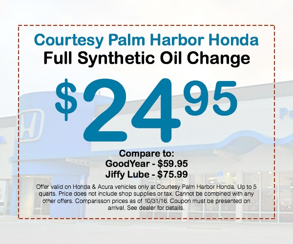 Full Synthetic Oil Change Honda Service Coupons Tampa - Acura coupons oil change
