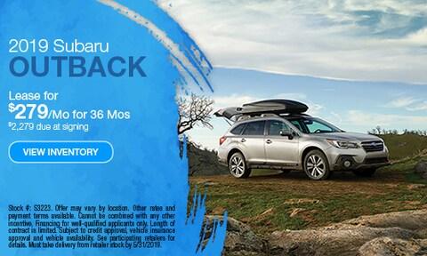 New 2019 Subaru Outback