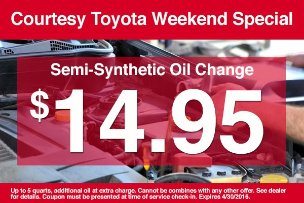 Printable Toyota Oil Change Coupons >> Toyota Semi Synthetic Oil Change Coupon | Courtesy Toyota