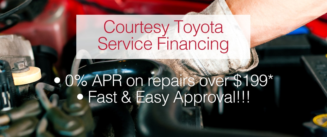 Courtesy Toyota Service Financing