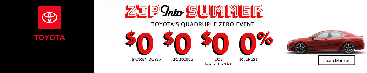 Quadruple Zero Toyota Offers