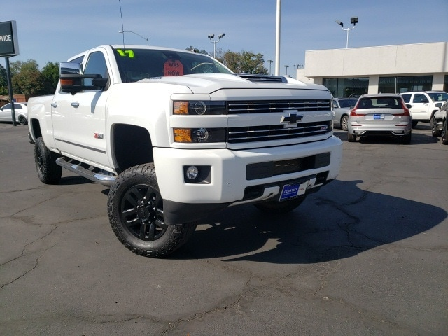 Featured pre-owned vehicles 2017 Chevrolet Silverado 2500HD LTZ Truck Crew Cab for sale near you in Chico, CA