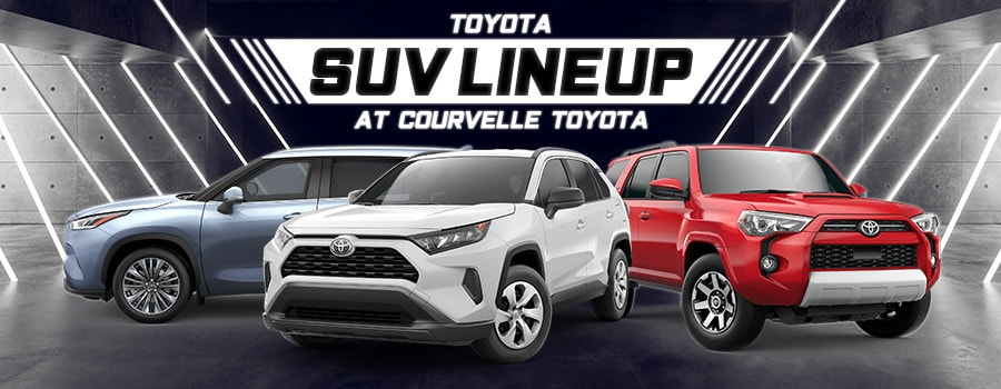 New Toyota SUV Lineup At Courvelle Toyota In Lafayette, LA