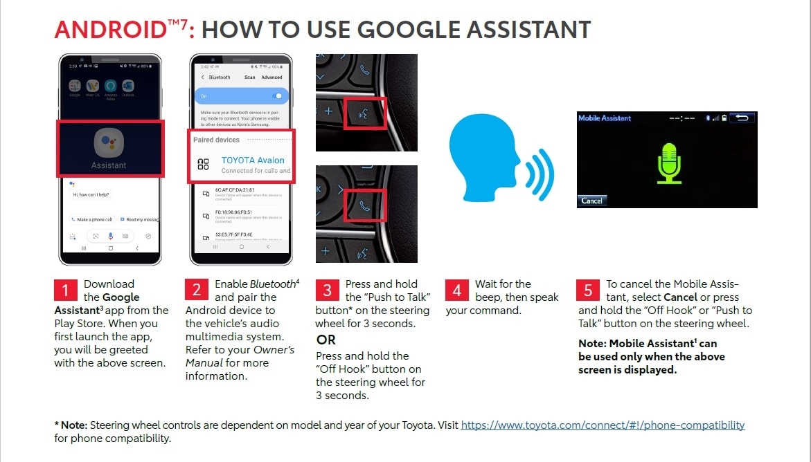 Using Google Assistant In Your New Toyota At Courvelle Toyota In Lafayette, LA
