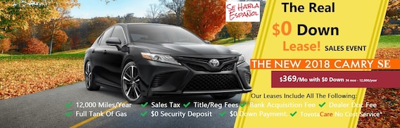 0 Down Lease >> Courvelle Toyota