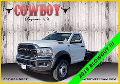 New 2019 Ram 5500 Chassis Cab 5500 TRADESMAN CHASSIS REGULAR CAB 4X4 168.5 WB Regular Cab for sale in Cheyenne WY