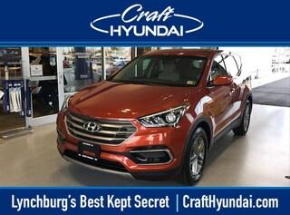Certified Pre-Owned 2017 Hyundai Santa Fe Sport 2.4L SUV for sale near you in Lynchburg, VA