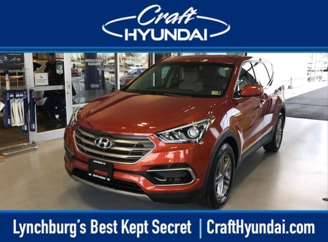 Certified pre-owned Hyundai car or SUV 2017 Hyundai Santa Fe Sport 2.4L SUV for sale near you in Lynchburg, VA