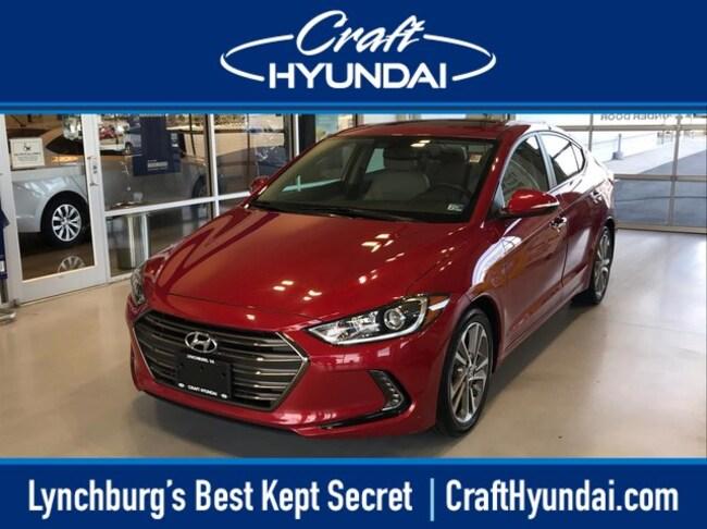 Used vehicle 2017 Hyundai Elantra Limited w/PZEV Sedan for sale near you in Lynchburg, VA