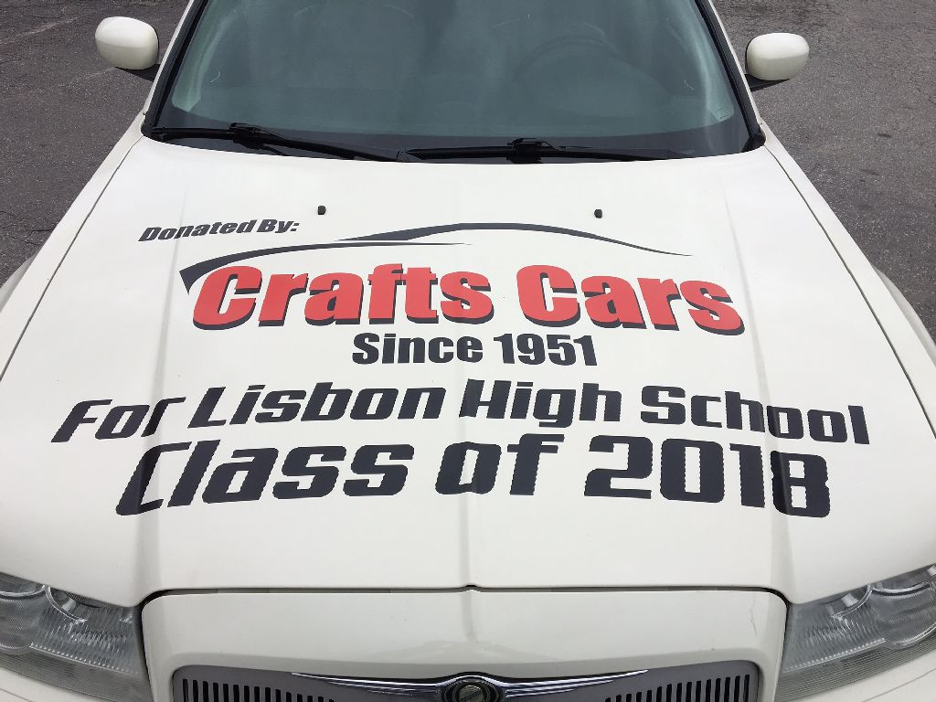 each year crafts cars teams up with a lisbon high school class and we donate a vehicle for them to raffle off all proceeds go directly to the class to help
