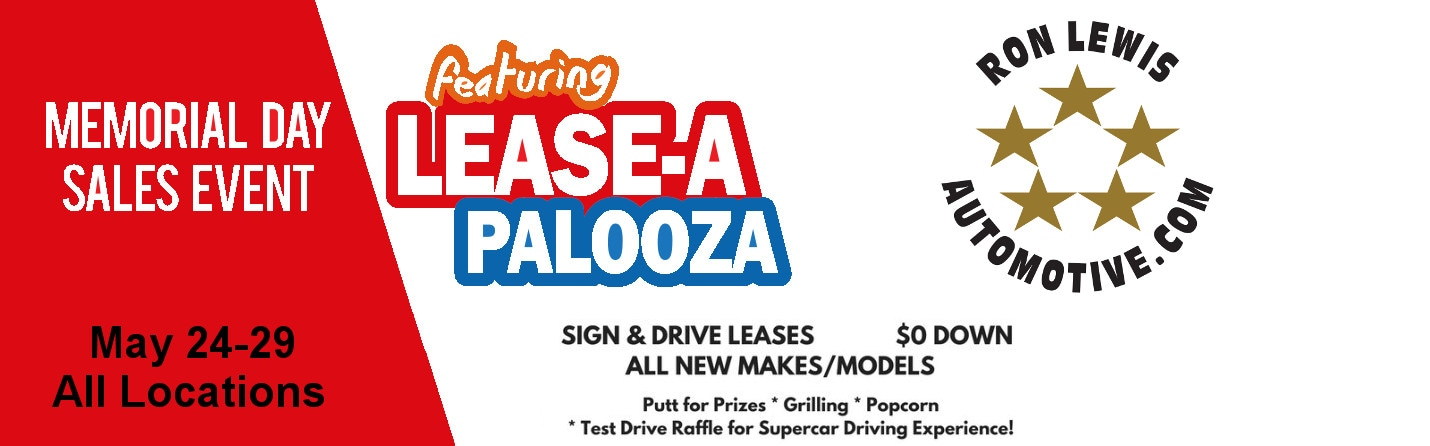 memorial day event featuring lease a palooza ron lewis automotive group. Black Bedroom Furniture Sets. Home Design Ideas