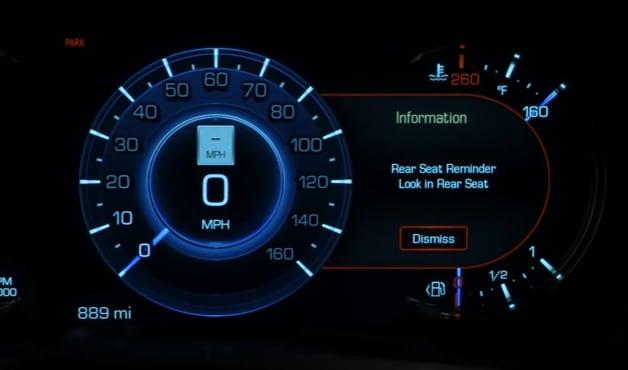 Cadillac Rear Seat Reminder