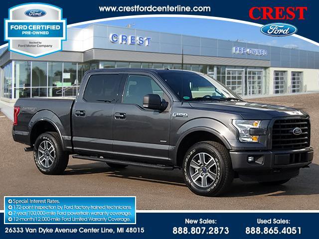 2016 Ford F-150 XLT 4WD 2.7L/302A/Roof/Sport Appearance/Tow