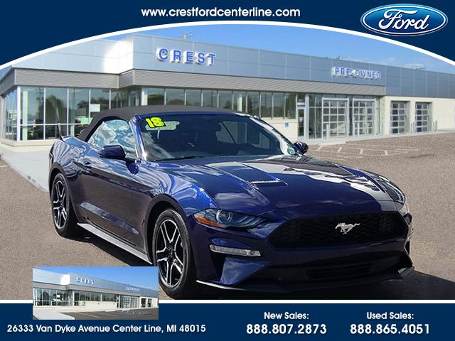 2018 Ford Mustang Ecoboost Premium 2.3L/201A/NAV/Sync3/Convertble/18