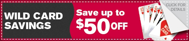 Wild Card Savings Coupon, Dallas Automotive Service