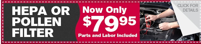 Hepa or Pollen Filter Coupon, Dallas Automotive Service