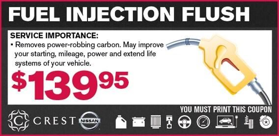 Crest Nissan Service Coupon Frisco TX | Fuel Injection Flush