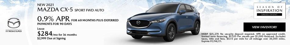 New 2021 Mazda CX-5 Sport FWD Auto