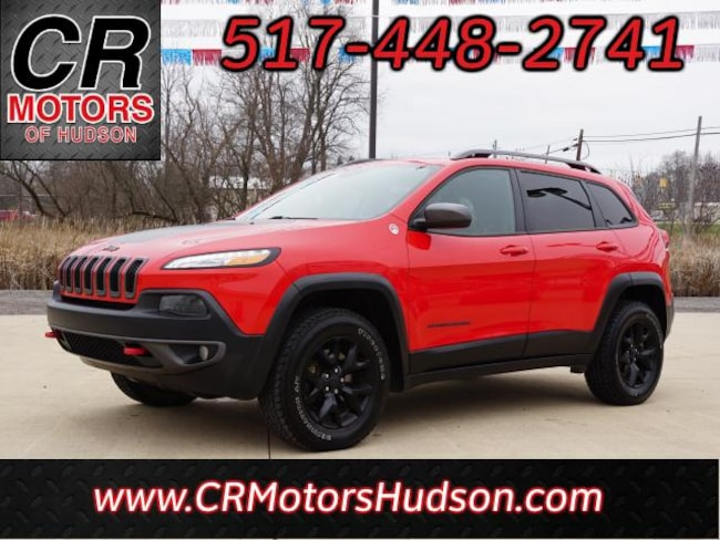 Used 2017 Jeep Cherokee Trailhawk 4x4 SUV For Sale Hudson, MI