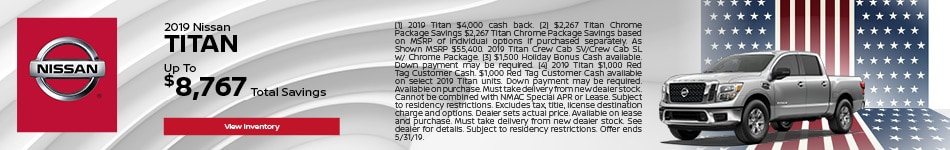 2019 Nissan Titan - Cash Back