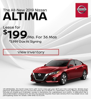 New 2019 Nissan Altima - Lease