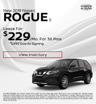 2019 Nissan Rogue S - Lease