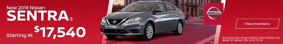 2019 Nissan Sentra S - MSRP