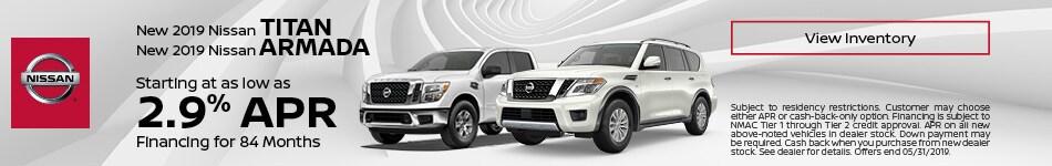 New 2019 Nissan Titan & New 2019 Nissan Armada - APR
