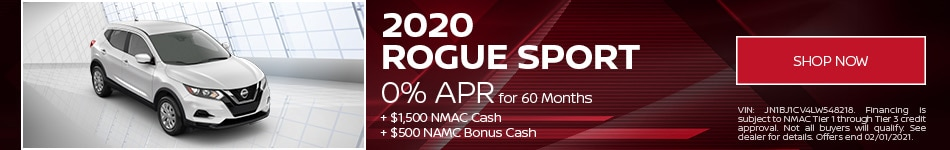 New 2020 Nissan Rogue Sport | Lease