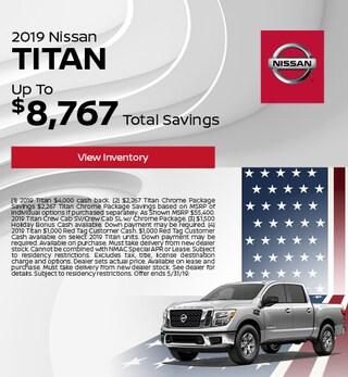 2019 Nissan Titan - Cash Back