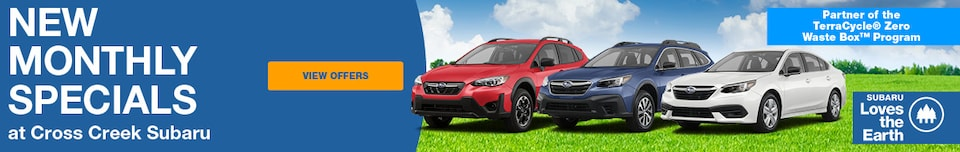 New Monthly Specials at Cross Creek Subaru